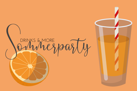 Sommeparty Orangenlimonade