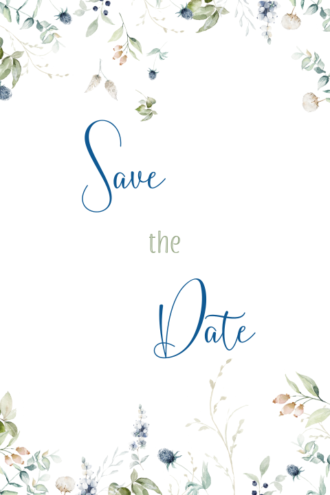 Save the Date - Blumenrand